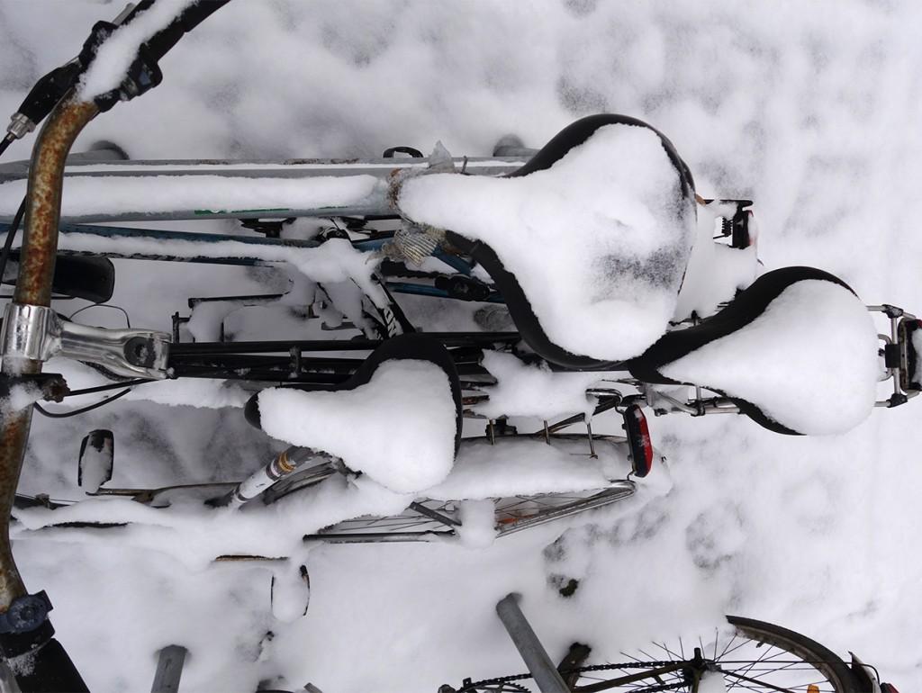 Fahrrad im Winter