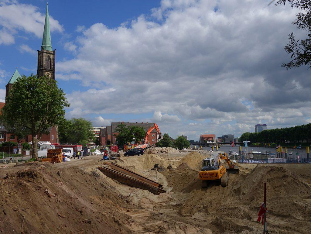 Baustelle im Stephani-Viertel
